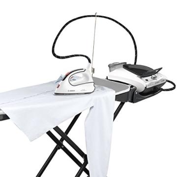 Bosch TDN1710 Aktiv-Bügeltisch für alle Dampfstationen und Bügeleisen, Heiz-Absaug-Gebläsefunktion, anthrazit / weiß