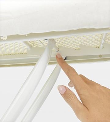 Brabantia 321962 Bügeltisch 124x45, Dampfstationsablage, Bezug ice water, Rohrdurchmesser 25 mm, Gestell ivory