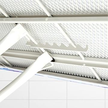 Brabantia Bügeltisch  321962124x45, Dampfstationsablage, Bezug ice water, Rohrdurchmesser 25 mm, Gestell ivory